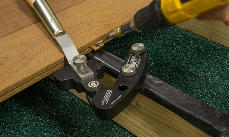 Installing Ipe Clip® with the Hardwood Wrench™